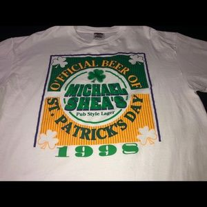 Vintage 1998 Michael Sheas Lager St Patty's Tee
